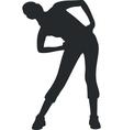 Girl silhouette 06 vector image