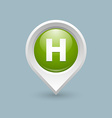 Hospital or heliport pointer vector image