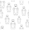 Seamless pattern with smiling polar bear vector image