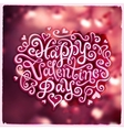 Valentines Day hand lettering vector image