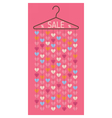 Hanger with hanging hearts Sale discount banner vector image