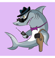 Shark the gangster vector image vector image