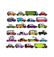 Set of cars collection for your design vector image vector image