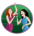girls night vector image vector image