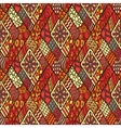 Tribal doddle rhombus seamless background vector image