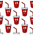 Seamless pattern of a takeaway beverage vector image vector image
