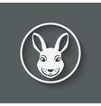 rabbit head symbol vector image