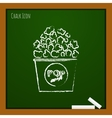 popcorn icon Eps10 vector image
