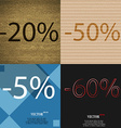 50 5 60 icon Set of percent discount on abstract vector image