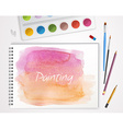 Art process with watercolor vector image vector image