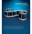 background with film vector image vector image