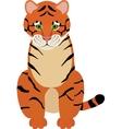 Fun cartoon of cute Tiger vector image