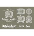 beer set elements chalkboard octoberfest vector image