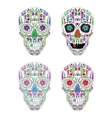 Day Of The Dead Skull Set on background vector image