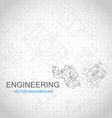 Engineering background with technical drawing vector image
