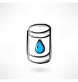 gasoline grunge icon vector image