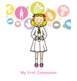 Girl First Communion vector image