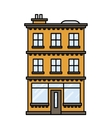 house with a bar or shop vector image