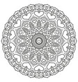Mandala with hearts for coloring book page vector image