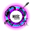 Music background Hand drawn vector image