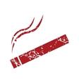 Red grunge cigarette logo vector image
