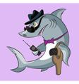 Shark the gangster vector image