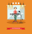 synthesizer concept in flat vector image