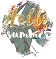 ropical exotic summer print for t-shirt with vector image vector image