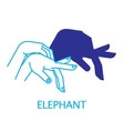 Shadow Hand Puppet Elephant vector image
