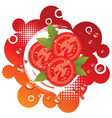 abstract background with fresh tomatoes vector image