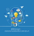 concept of big idea vector image