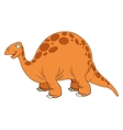 Cute cartoon dinosaur comic vector image