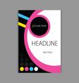 design headline cover beauty vector image