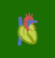 flat shading style icon heart vector image