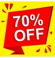 Sale poster with 70 PERCENT OFF text Advertising vector image
