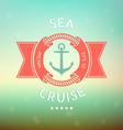 sea cruise anchor vector image