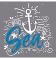 Sea print T-shirts for summer vector image