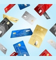 credit plastic card pattern background vector image