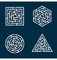 labyrinths vector image