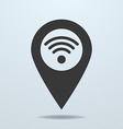 Map pointer with a wifi symbol vector image