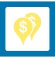 Bank locations icon vector image