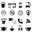 Gas station icons Fuel isolated icons vector image