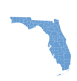 State map of Florida by counties vector image