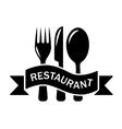 restaurant black symbol vector image vector image