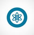 atom bold blue border circle icon vector image