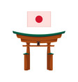 flat japanese torii gate icon isolated vector image