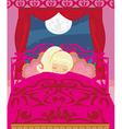 girl sleeping in his bedroom vector image