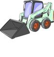 mini excavator g vector image