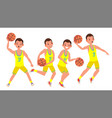 modern basketball player man sports vector image