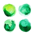 Set of green watercolour stains vector image